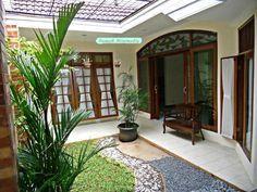 Desain Teras Rumah Minimalis Batu Alam Dan Taman Hias Minimalis
