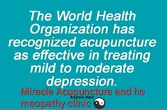 Acupuncture for depression ☯️☯️☯️☝️ Acupuncture For Depression, Relieve Constipation, World Health Organization, Homeopathy, Clinic, Wellness, Treats, Sepia Homeopathy, Sweet Like Candy