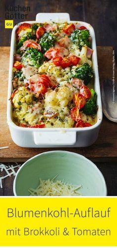 Cauliflower and broccoli bake - Easy recipe for casserole. - Cauliflower and broccoli bake – Easy recipe for casserole. Broccoli Bake, Broccoli Casserole, Casserole Recipes, Easy Baking Recipes, Easy Healthy Recipes, Easy Meals, Healthy Meals, Beef Recipes, Vegetarian Recipes