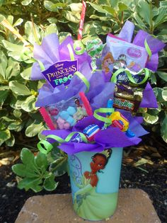Princess & The Frog Kids Candy Party Favors Made to Order. $4.75, via Etsy.