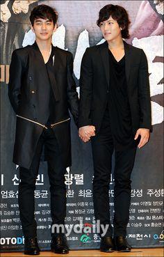 Yoo Seung Ho and Ji Chang Wook.  Warrior Baek Dong Soo Interview.