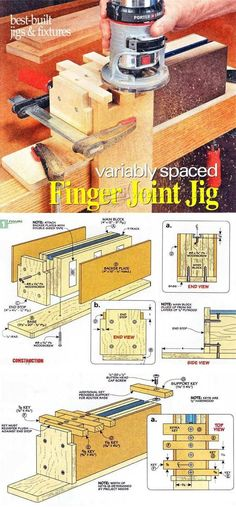 Finger Joint Jig Plans - Joinery Tips, Jigs and Techniques | WoodArchivist.com