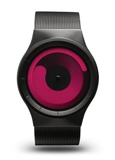 Ziiiro Unisex Mercury Magenta Plastic Watch