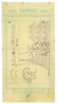 Gunter Brus, score for an unrealized action, 1966Ballpoint pen on mimeograph, 43.4 x 24.8 cm
