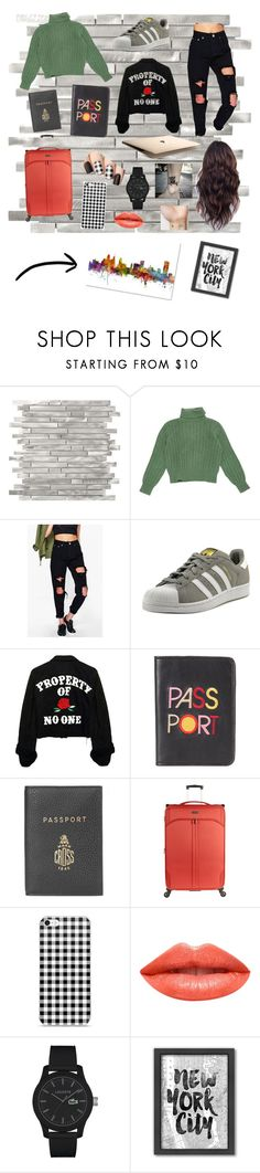 """Traveler Girl"" by roli17 ❤ liked on Polyvore featuring Yves Saint Laurent, Boohoo, adidas, Lizzie Fortunato, Mark Cross, Antler, Ardency Inn, Lacoste, Americanflat and Trademark Fine Art"