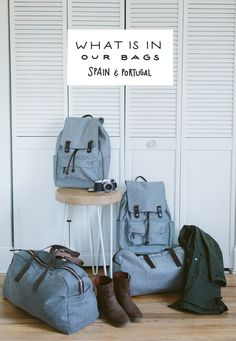 Minimalist Packing...What's in Our Bags for Spain and Portugal, from The Fresh Exchange