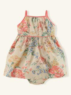 Floral Linen-Cotton Sundress - Layette Dresses & Rompers - RalphLauren.com