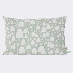 ferm LIVING Mountain Tops Cotton Lumbar Pillow Color: Mint