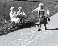 Never too old to play hopscotch