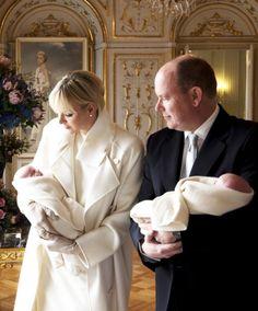 Prince Albert II, Princess Charlene, Princess Gabriella, and Prince Jacques