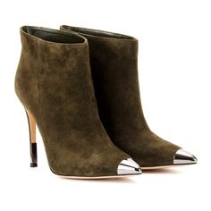 Gianvito rossi Mytheresacom Exclusive Suede Ankle Boots in Green ...
