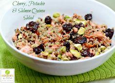 Cherry, Pistachio & Quinoa Salmon Salad