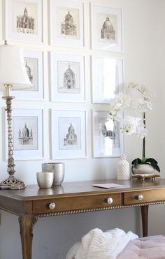 At-home office decor: Photography: Courtney Davey