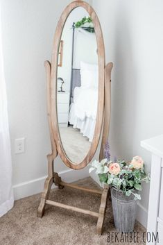 vidrios andres Simply Beautiful by Angela: Vintage Standing Mirror Makeover 123 room inspiration 27 Stylish Bedroom, Cozy Bedroom, Home Decor Bedroom, Modern Bedroom, Bedroom Ideas, Contemporary Bedroom, French Master Bedroom, Bedroom Romantic, Bedroom Rustic