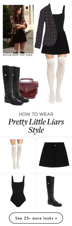 """""""Spencer Hastings - pll / pretty little liars"""" by shadyannon on Polyvore featuring Eres, Madewell, Chelsea28 and Tory Burch"""