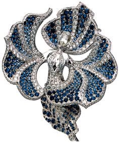 The Océanide Brooch  An Enchanting Bejeweled Flower Goddess, Part of the L'Atlantide (Atlantis) High-Jewelry Collection by Van Cleef & Arpels
