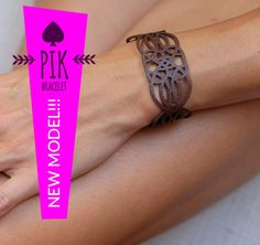 NEW MODEL!!!Leather Bracelet cuff Leather Cuff Ladies Leather Bracelets chocolate brown no36