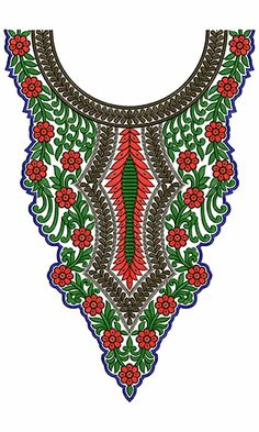 10011 Neck Embroidery Design