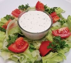 Carrabba's House Salad Dressing (Creamy Parmesan) Recipe Salads with mayonnaise, grated parmesan cheese, buttermilk, minced garlic, fresh parsley, lemon juice