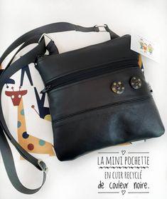 La Mini Pochette X 23, Style Vintage, Vintage Fashion, Mini Pochette, Recycled Leather, Asymmetrical Design, Cotton Canvas, Messenger Bag, Shoulder Strap
