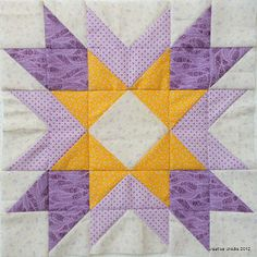 Lovely block; lovely colors. Made by Emily of Creative Chicks.