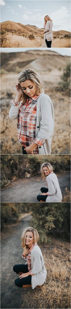 Senior pictures // Senior photographer // Fall senior session // Senior picture fall outfit ideas and inspiration // Senior posing ideas and inspiration // Celebration Park // Laughter //  Senior girl // Makayla Madden Photography