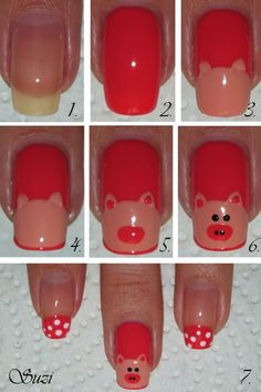 DIY Piggy Nail Art