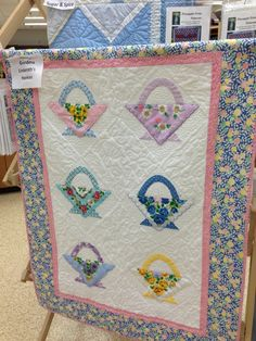 A Quilt made from vintage hankies