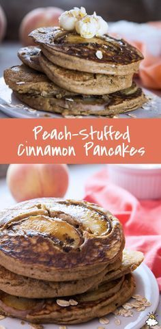 Sure, blueberries and apples are a tasty addition to your fluffy pancakes, but have you ever tried stuffing your pancakes with peaches? This simply sweet Peach-Stuffed Cinnamon Pancake Recipe is perfect for breakfast time fruit lovers.