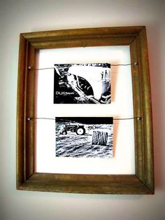 Rustic upcycled picture frame 19 x 15 by naturallycre8tive on Etsy