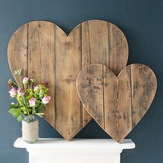 Love These Big Wooden Hearts.......
