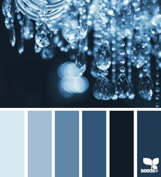 chandelier blues  Color Palette - Paint Inspiration- Paint Colors- Paint Palette- Color- Design Inspiration