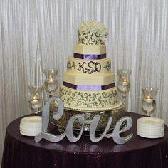 Purple & Grey Wedding Cake Amanda's Cakery, Macon, GA