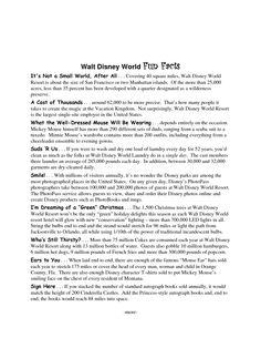 Walt Disney World Fun Facts
