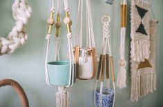 hangingpots by Sally England I want them all! http://www.sallyengland.com/