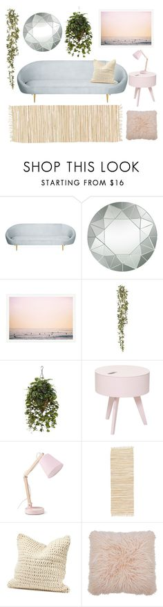 """""""Mid century"""" by lav-en-der-leaves ❤ liked on Polyvore featuring interior, interiors, interior design, home, home decor, interior decorating, Lazy Susan, Nearly Natural, Bloomingville and Coyuchi"""