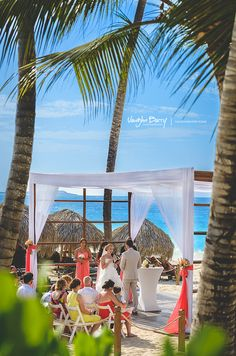 Royalton Punta Cana Wedding Gazebo on the beach.  Vaughn Barry Photography #puntacana #destinationwedding www.vaughnbarry.com