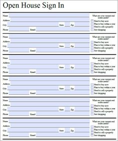 conference sign in sheets templates | Parent Sign Up Sheet ...