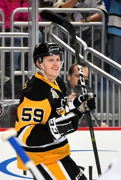 November 21, 2016 vs. New York Rangers. Jake Guentzel scored two goals in his NHL, including a goal on his first career shot. Final Score, 5-2 Rangers.