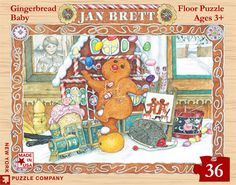Gingerbread Friends – New York Puzzle Company. 36 Giant Pieces. Floor Puzzle.