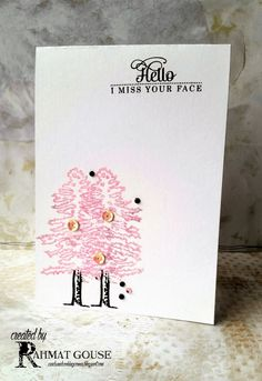 Cards and Cooking Corner: Trees in spring