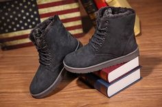 Mens Winter Snow Suede Boots