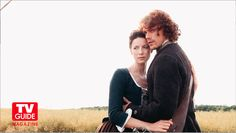 Outlander's Caitriona Balfe and Sam Heughan Cover Shoot! TV Guide Magazine!