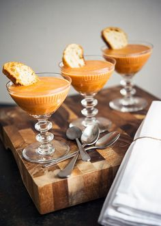 tomato bisque soup - love this presentation