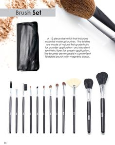 Brush Set. http://www.sachacosmetics.com/makeup-tools