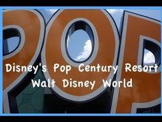 Walt Disney World - Pop Century Resort Complete Tour Disney Resorts, Disney Vacations, Disney Trips, Dream Vacations, Disney Videos, Disney 2015, Disney Planning, Hollywood Studios, Magic Kingdom