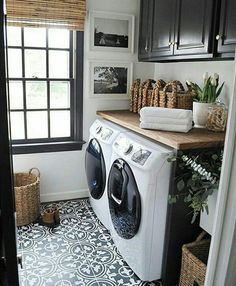 This would be awesome too with teal cabinets Storage Shelves Ideas Laundry room decor Small laundry room organization Laundry closet ideas Laundry room storage Stackable washer dryer laundry room Small laundry room makeover A Budget Sink Load Clothes Farmhouse Laundry Room, Laundry In Bathroom, Basement Laundry, White Bathroom, Bath Laundry Combo, Vintage Laundry Rooms, Master Bathroom, Small Bathroom, Laundry In Kitchen
