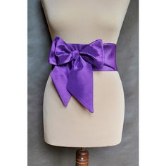 Violet binding obi Belt SASH taffeta,extra long women's accessories,... ($20) ❤ liked on Polyvore featuring accessories, belts, sash belt, bow belts, obi sash belt and obi belts