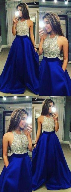 Prom Dresses 2019 #PromDresses2019, Prom Dresses Backless #PromDressesBackless, Custom Prom Dresses #CustomPromDresses, Prom Dresses Blue #PromDressesBlue