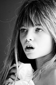 This girl has an amazing face for modelling, even at such a young age. Notice her gappy teeth too; proof that you needn't be 100% flawless to gain work as a model.